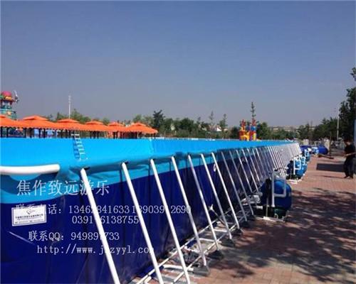 【焦作致远游乐】支架游泳池、大型移动支架游泳池