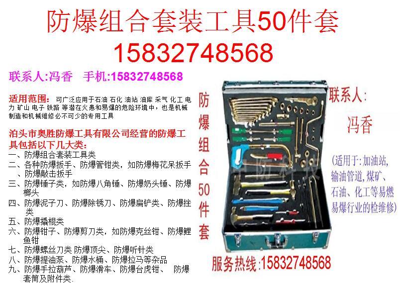 防爆组合套装工具50件套EX-ASZH50 重庆-防爆扳手铜锤管钳静电释放器消除仪报警器油桶