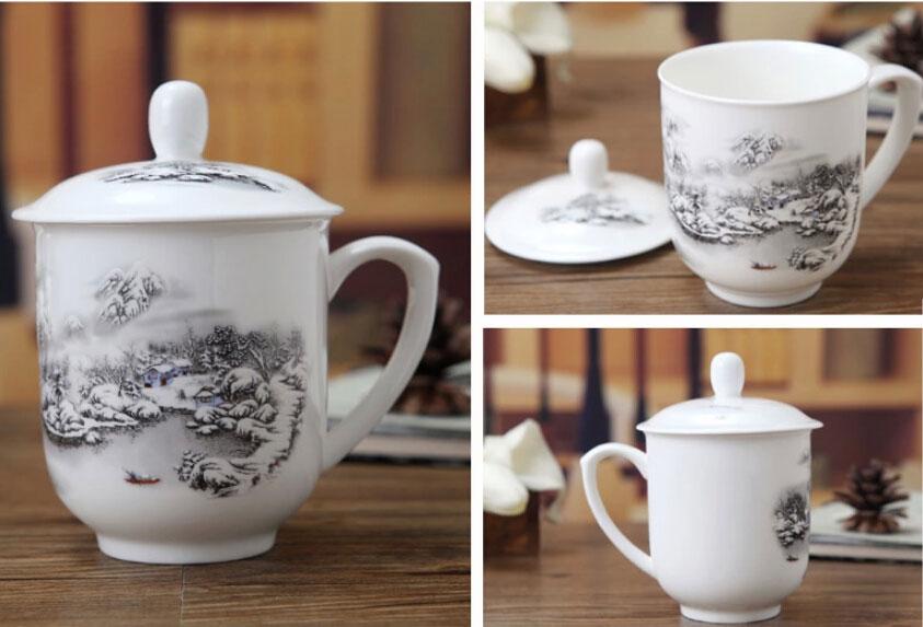会议礼品茶杯 商务会议办公用品茶杯