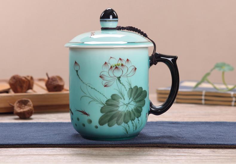 景德镇陶瓷茶杯礼品图片