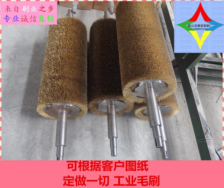 地板机械厂打磨钢丝刷辊 除锈不锈钢丝刷 抛光木柄钢丝刷清洗刷
