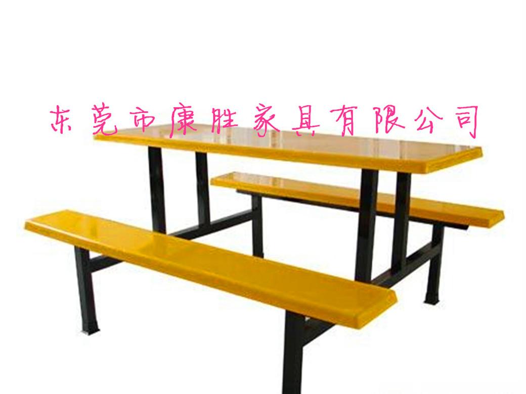 专业批发学如果你说了半句假话校食堂餐桌椅,食堂连体餐桌椅,东莞食⊙堂餐桌椅