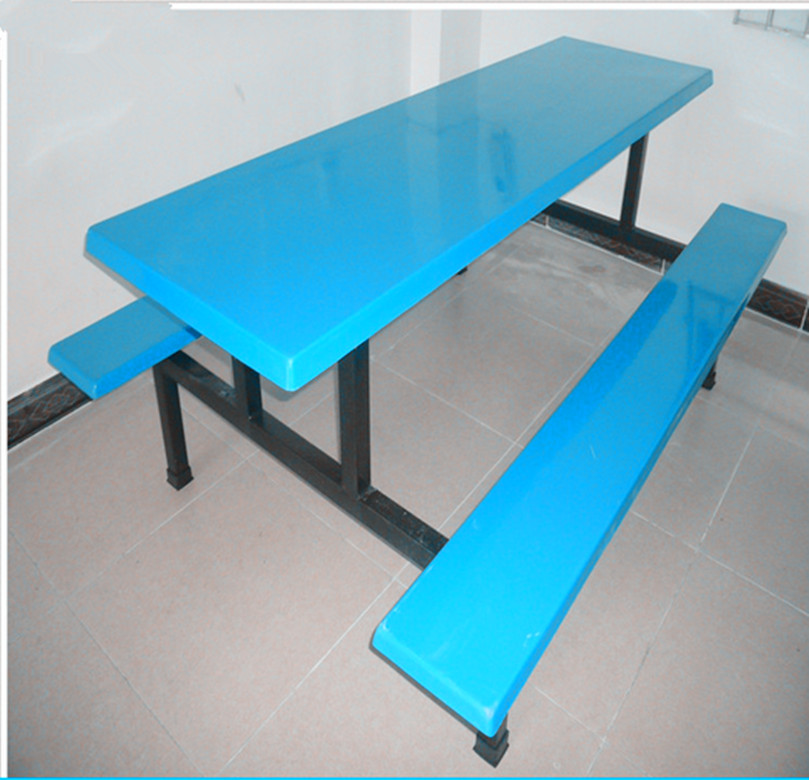 廠家直銷_玻璃鋼餐桌椅_連體餐桌椅_學生食堂餐桌椅