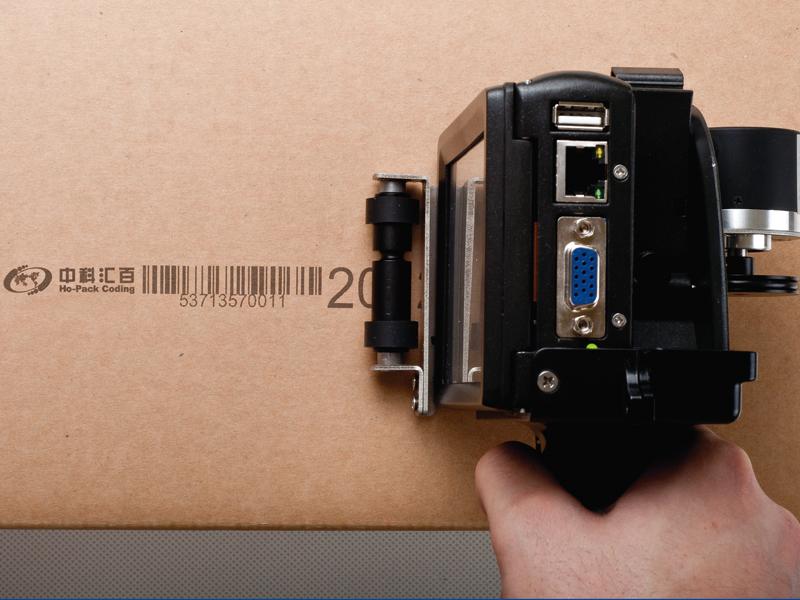 中科匯百混懸液生產熱發泡手持噴碼機E1H 操作簡單易上手