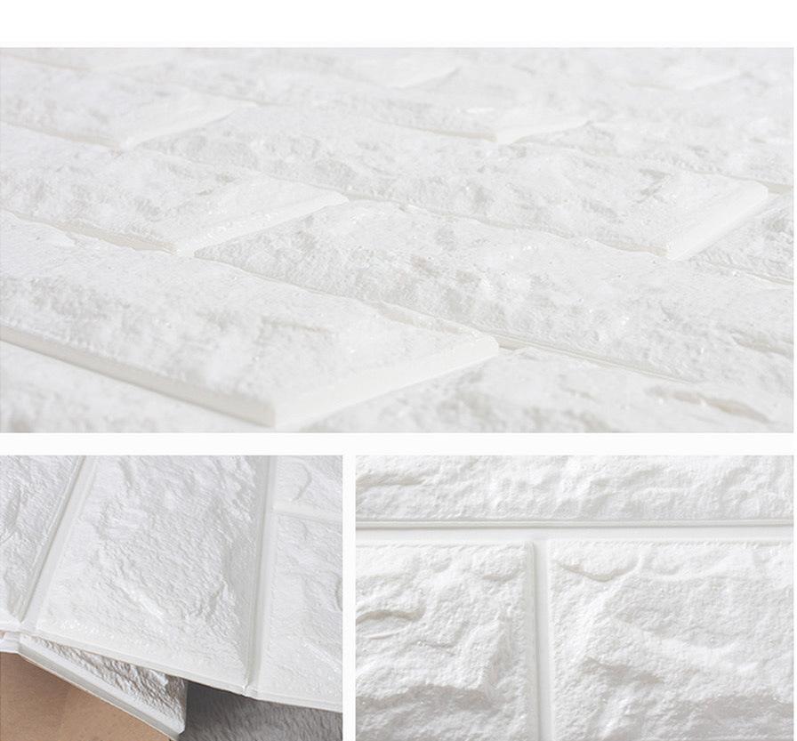 自粘3d立体墙贴 砖纹电视背景墙防水防撞泡沫墙纸瓷砖贴纸