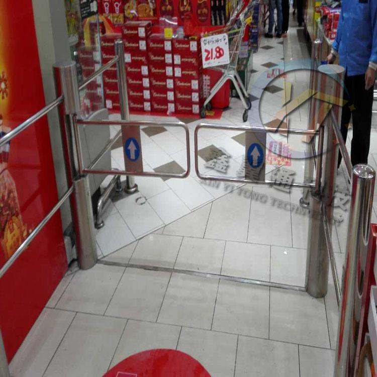 超市感應門,超市入口感應擺閘門禁機