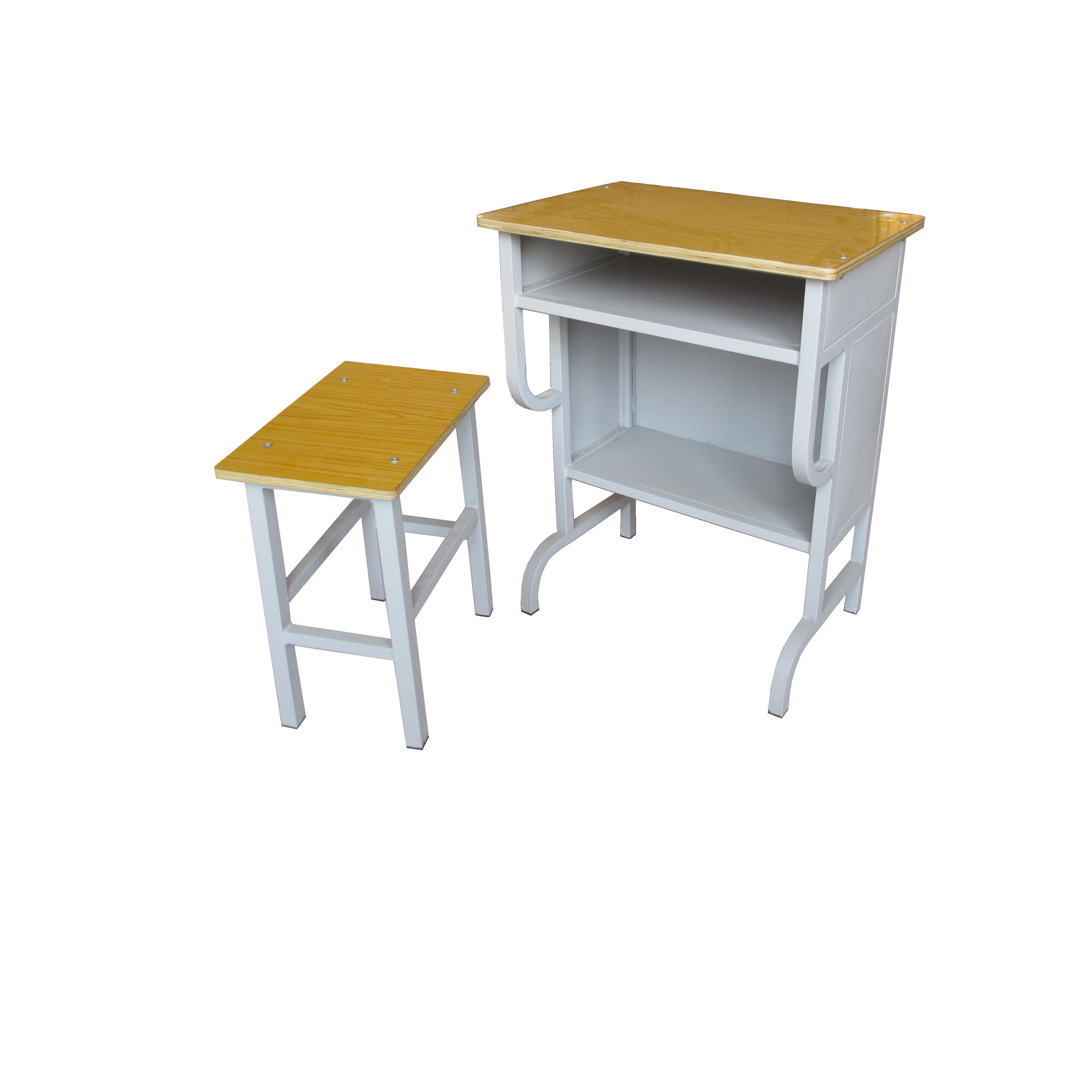 升降课桌椅价格钢木课桌图片HX-K005