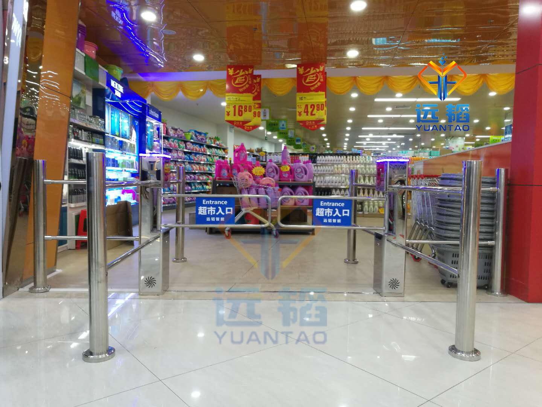 超市入口单向自动门感应门 商场摆闸可定制语音系统 单向门