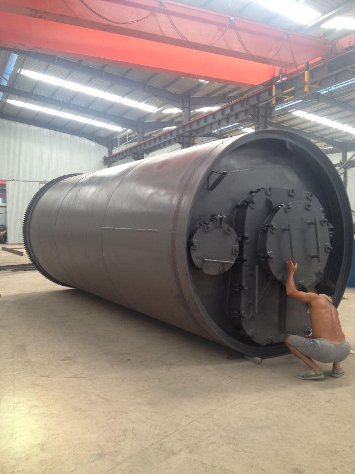 廢塑料再生煉油裂解旋轉爐