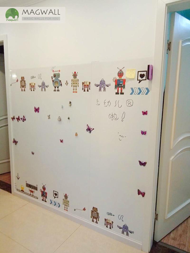 定制磁善家居家贴墙可擦写卡通双层磁性壁纸