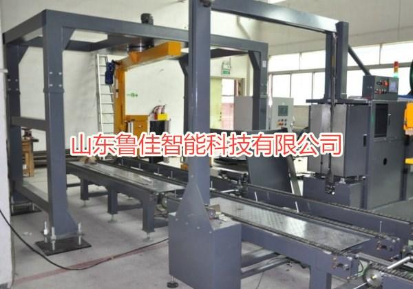 山東魯佳自動打包纏膜包裝流水線生產廠家