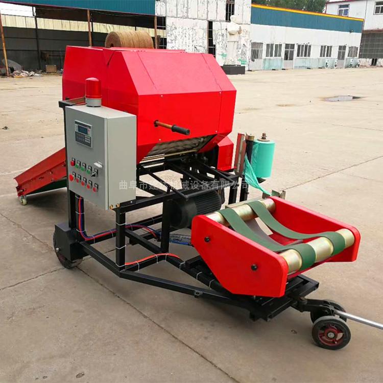 连草料打成捆 打捆包膜机生产厂家 青贮包膜机