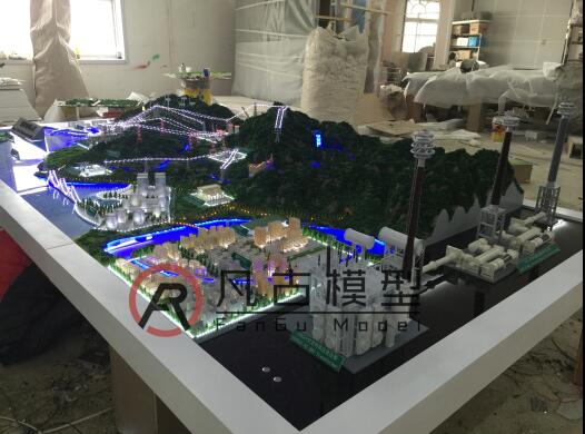 循环发电厂区沙盘模型