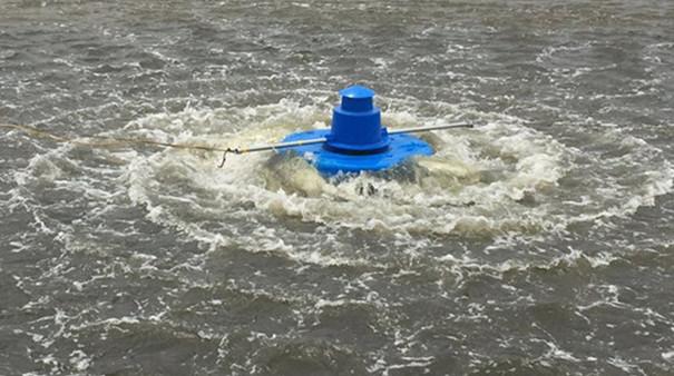 三相380V750W鱼塘水流推动设备推浪式增氧机