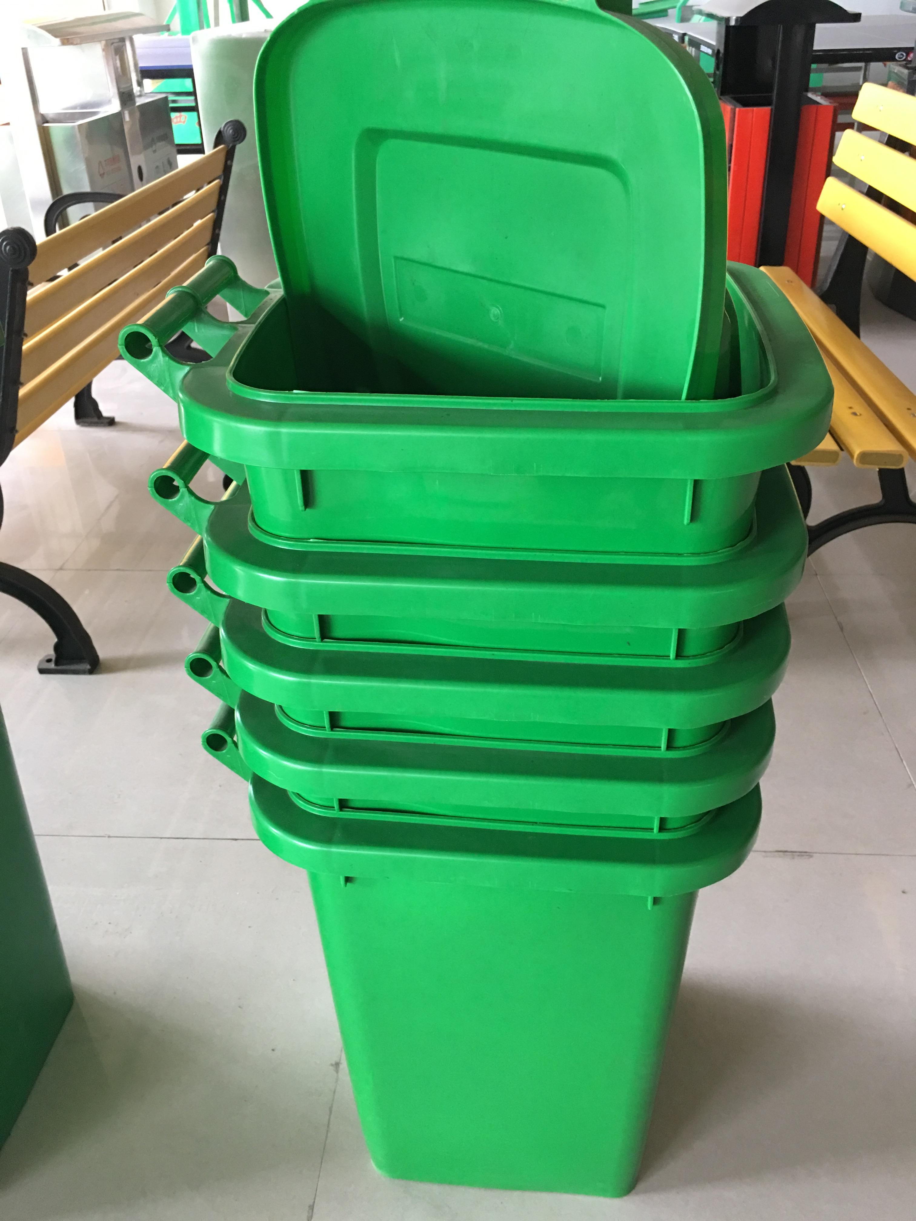 小区垃圾桶环卫大号钢木果壳箱分类豪华款定制