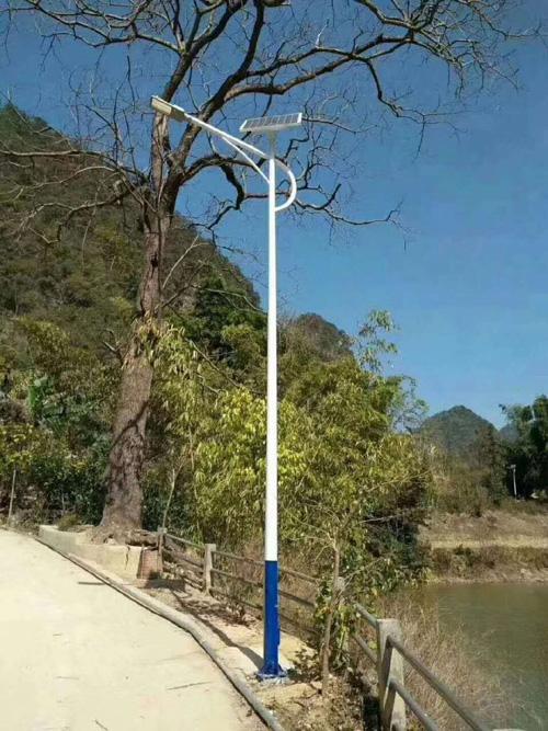 湖北农村6米锂电池太阳能路灯厂家批发价格