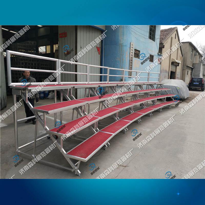 铝合金合唱台定制弧形合唱台铝板架子济南厂家