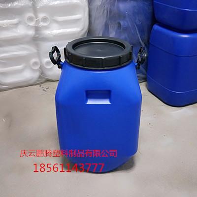 大口蓝色25公斤塑料桶25kg化工桶