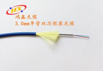 金属螺旋铠管柔性铠装光缆,东莞鸿鑫光缆专注柔性铠装光缆的高科技研发