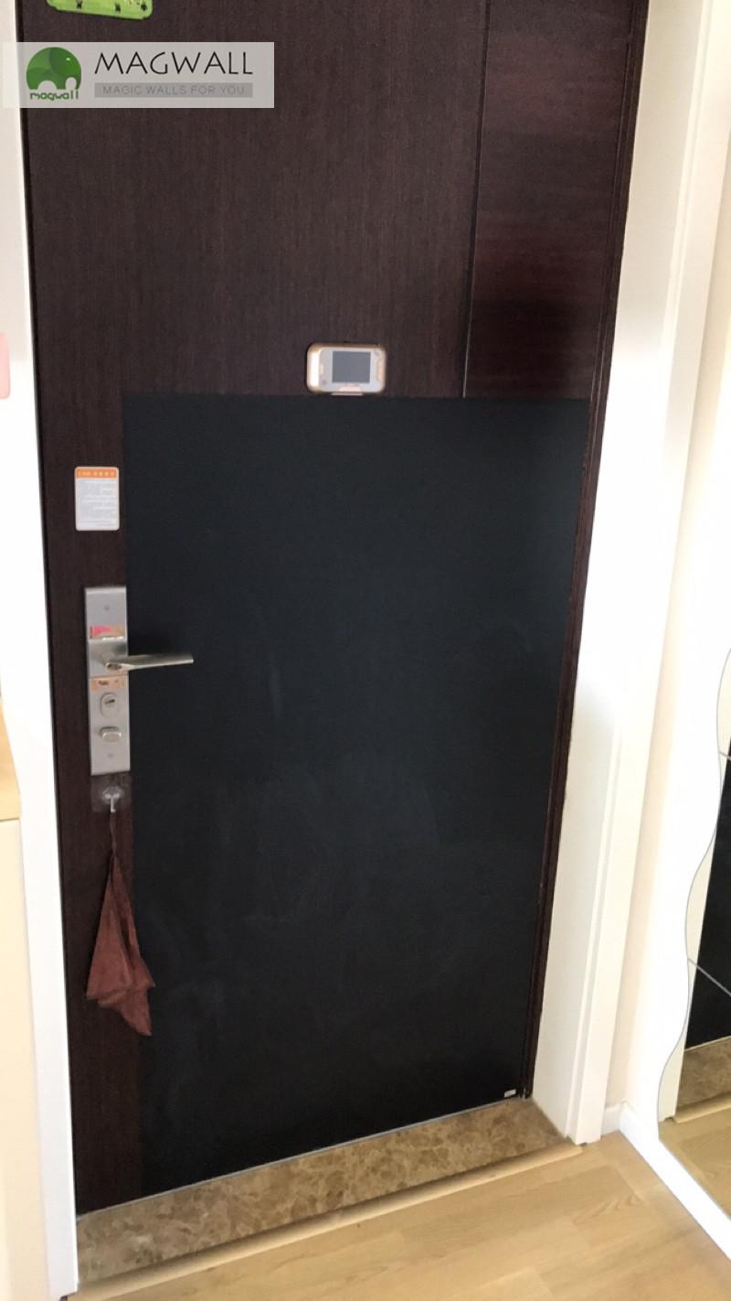 Magwall创意易写易擦自粘上墙无尘磁性软黑板