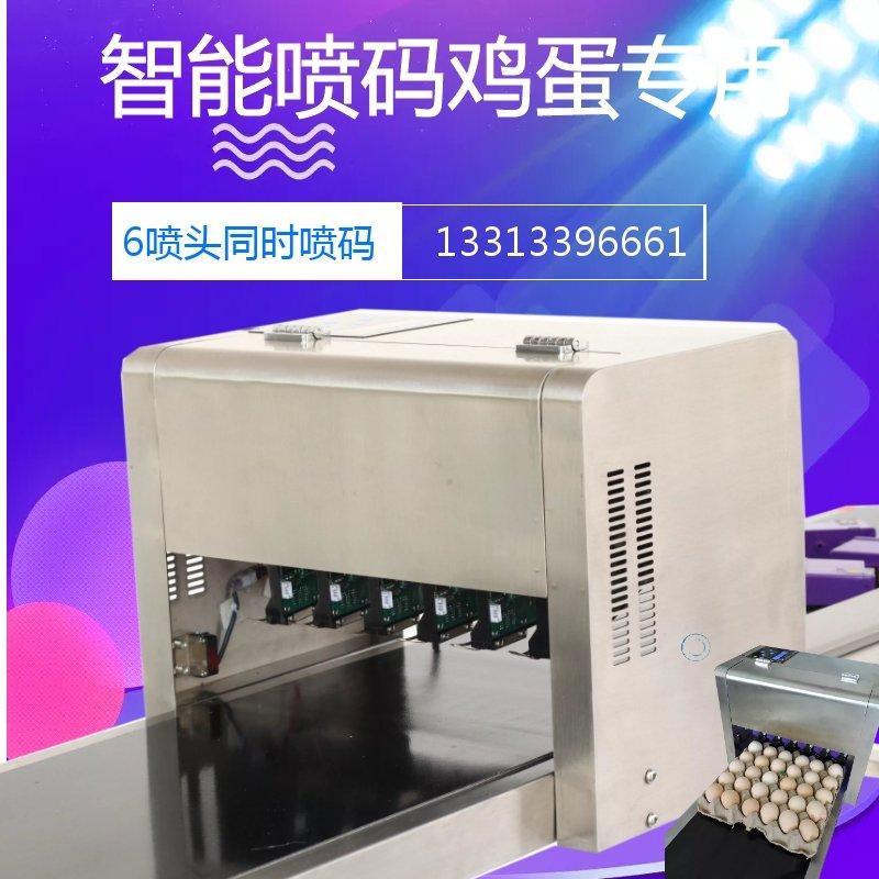 秦皇島地區禽蛋養殖專用噴碼機多噴頭雞蛋噴碼機