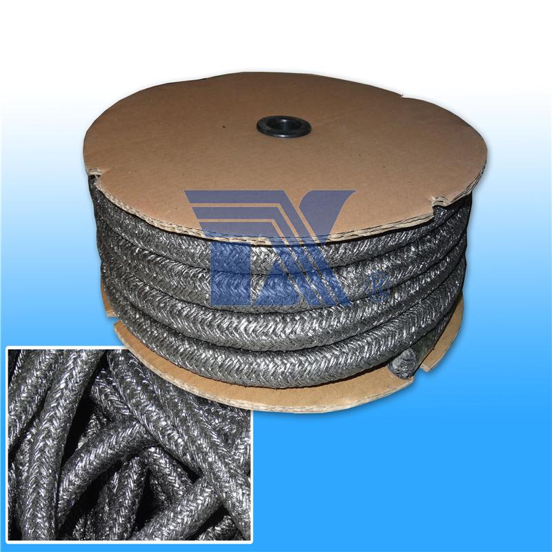 涂石墨陶瓷纤维编绳,石墨耐火绳