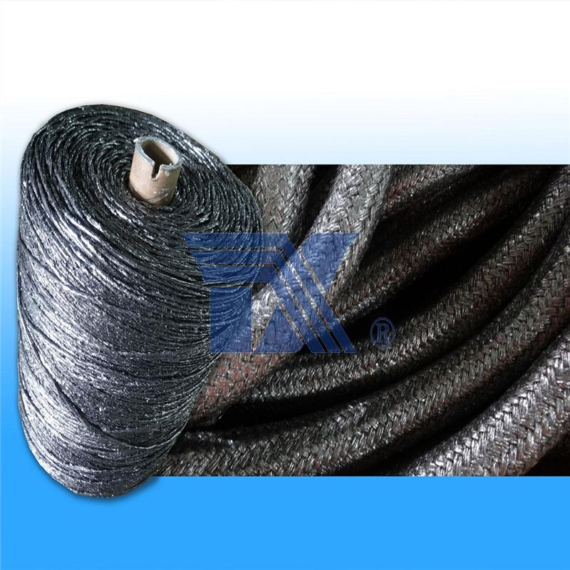 涂石墨玻璃纤维绳,玻纤盘根,防火绳