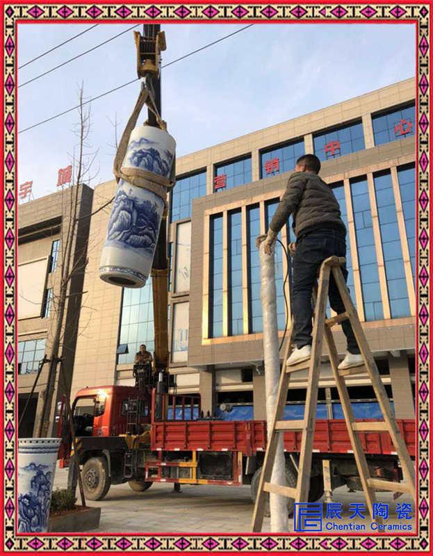 景德镇陶瓷灯柱厂家定制路灯户外灯 防锈防水景观灯饰