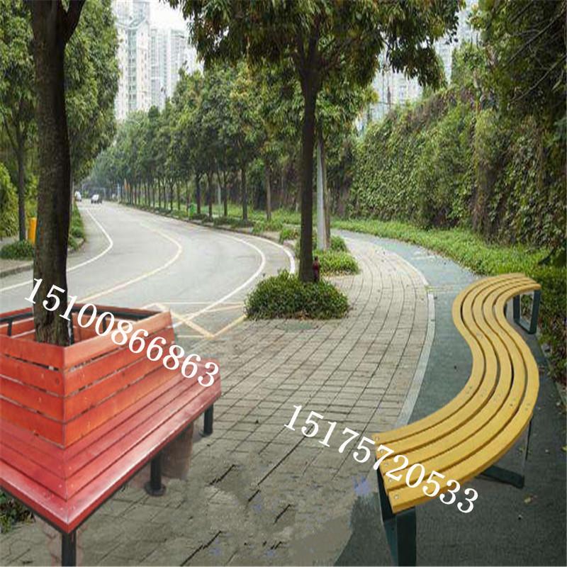 河北公园休闲椅厂家户外围树椅平凳公园椅