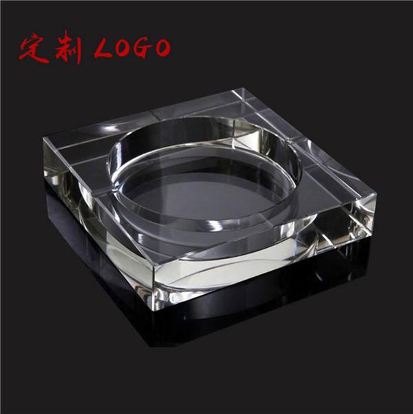 厂家直销水晶多边形烟灰缸 塑料烟灰缸创意烟灰缸定制印LOGO