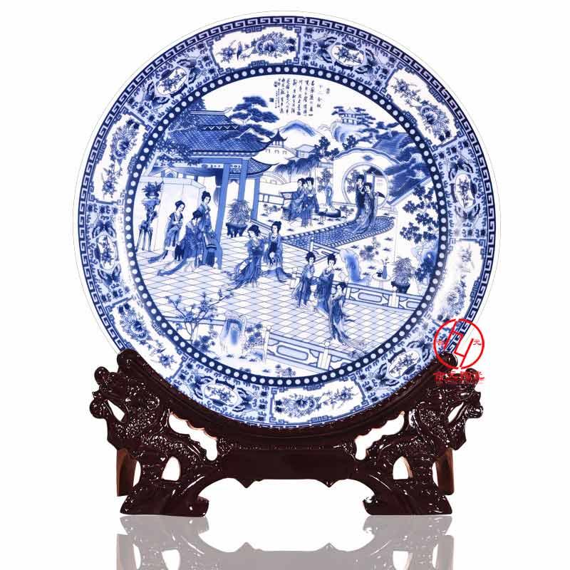 订制宗祠文化礼品纪念盘,姓氏宗亲祭祖活动纪念品瓷盘景德镇生产厂家