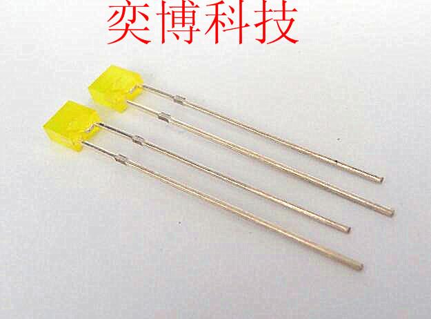 奕博LED灯珠,发光二极管,2x4x4方形黄发黄雾状