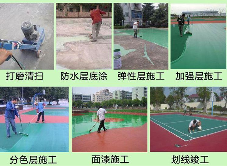 厂家直销丙烯酸球场材料 防水耐磨防滑丙烯酸篮球场施工