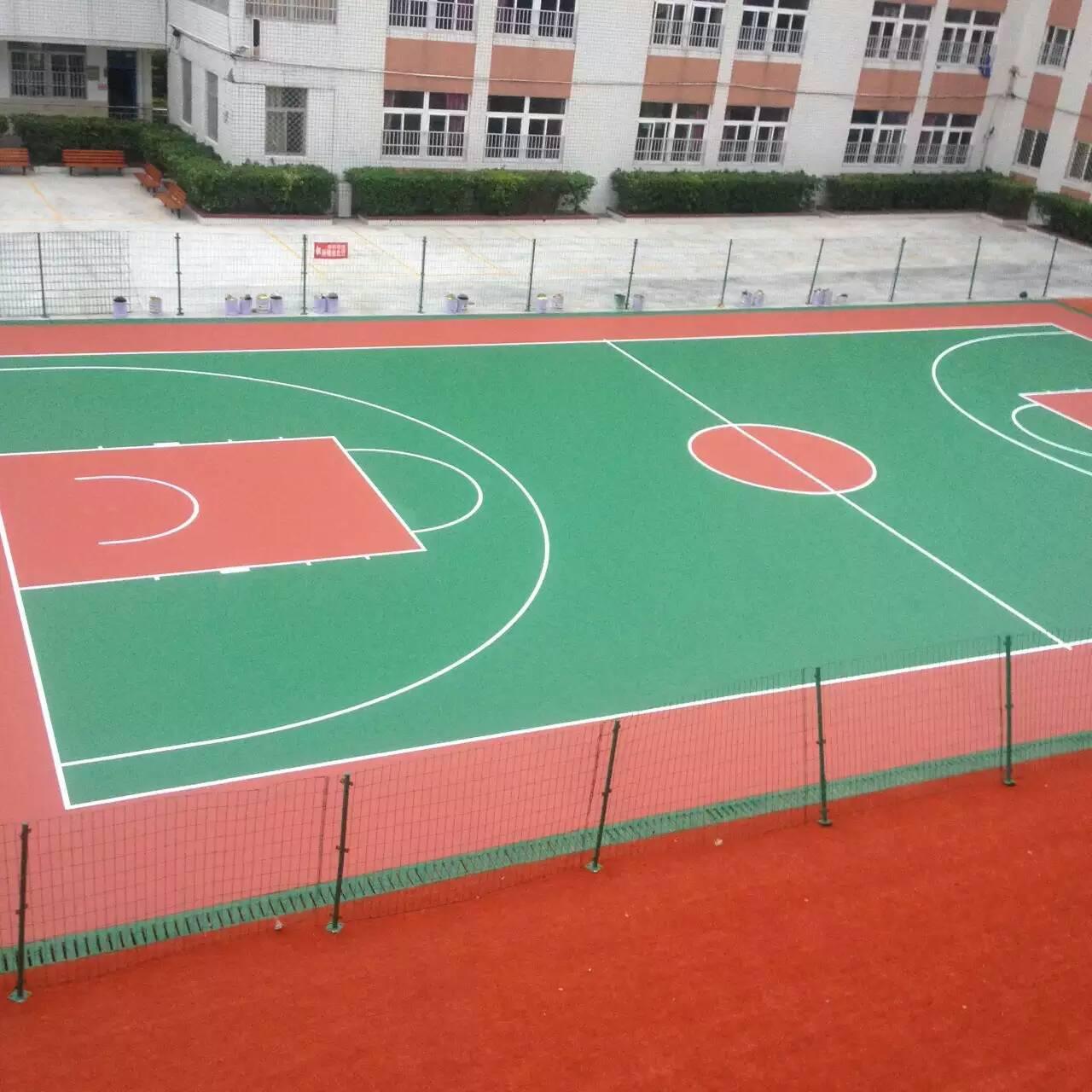 广西星之健 篮球场价格 学校球场 丙烯酸篮球场