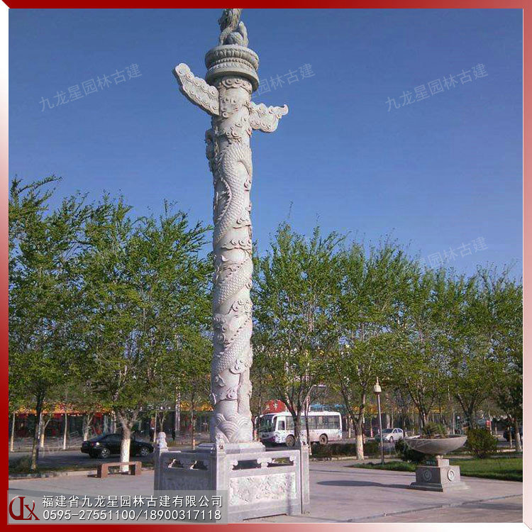華表龍柱 石雕中華柱 石雕龍柱文化柱價格圖片