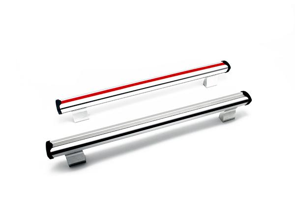 鋁合金陽極氧化自動化設備把手 M8管式手柄帶裝飾條機床設備拉手
