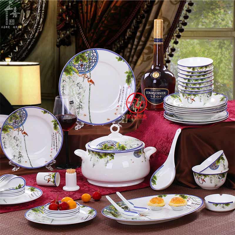 年终礼品套装餐具定制,景德镇礼品陶瓷餐具定做厂家