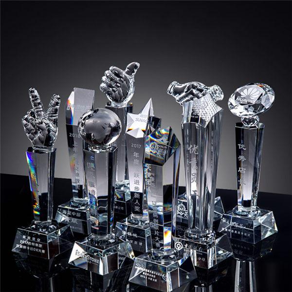 合肥水晶奖杯定制印LOGO-合肥水晶奖杯定做厂家