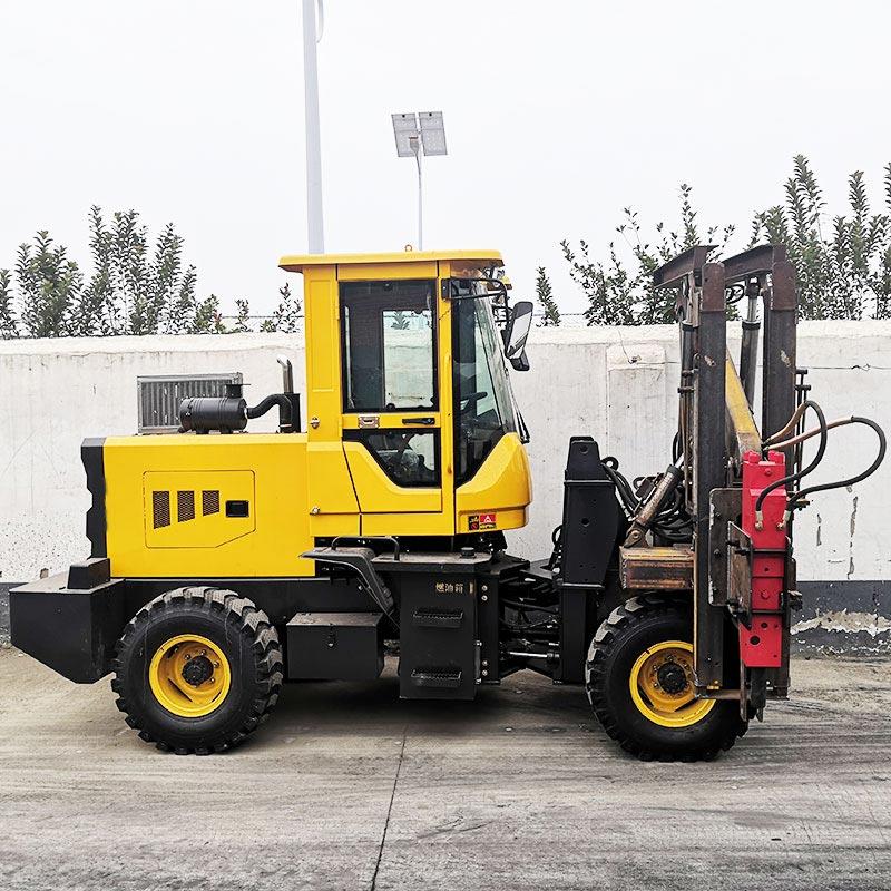 裝載式926全液壓自動高速公路護欄打樁機