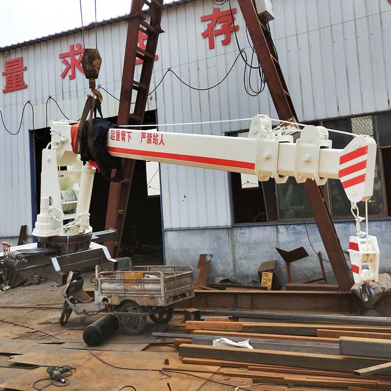 船吊起重機全液壓360度旋轉3噸5噸船吊多少錢