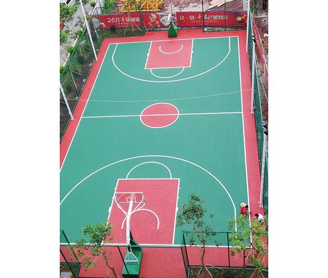 广西上林3mm丙烯酸球场施工铺设 篮球场包工包料