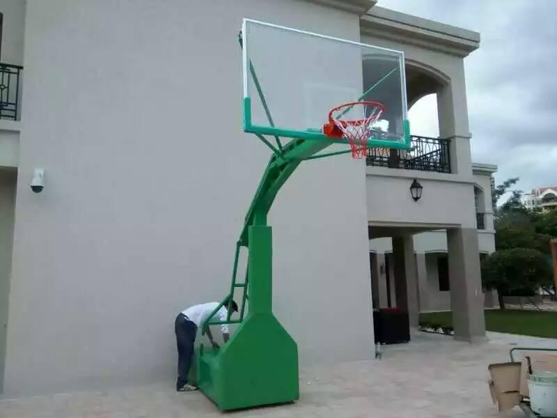 广西南宁星之健仿液压式篮球架安全美观 厂家直销