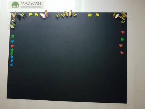 磁善家可移除耐写易擦磁性黑板贴 家用黑板墙贴