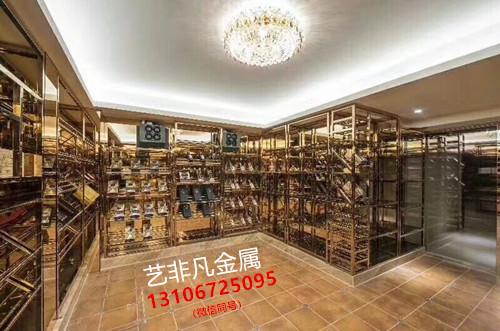 深圳中式酒柜不锈钢定制不一样的风情