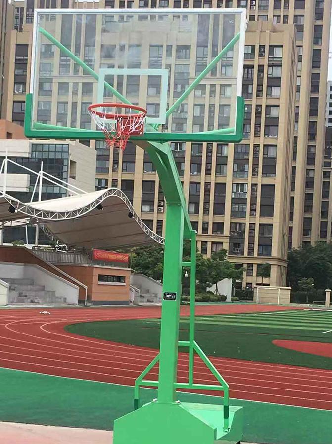广西南宁户外标准学校训练可移动篮球架