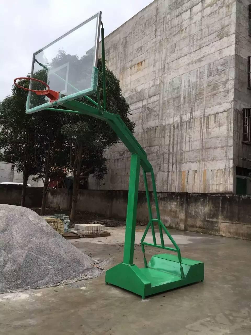 廣西獨臂籃球架 方管仿液壓籃球架 戶外籃球架款式圖片