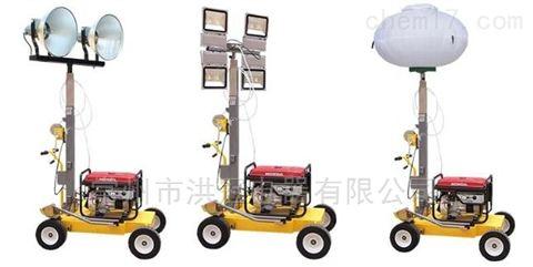 手推式移动照明灯塔车发电机照明车手摇升降