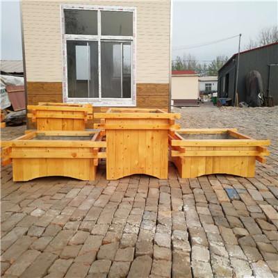 天津景观木质花箱——绿化种植木箱——河北防腐木花箱厂家