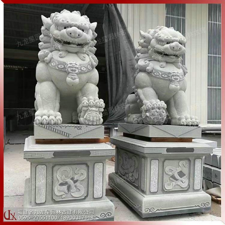 石獅子哪家好 惠安石獅子雕刻廠家 九龍星園林古建