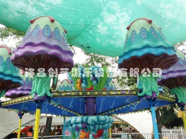 公园上坐率高的游乐设备 8臂逍遥水母 儿童游乐设备桑巴气球